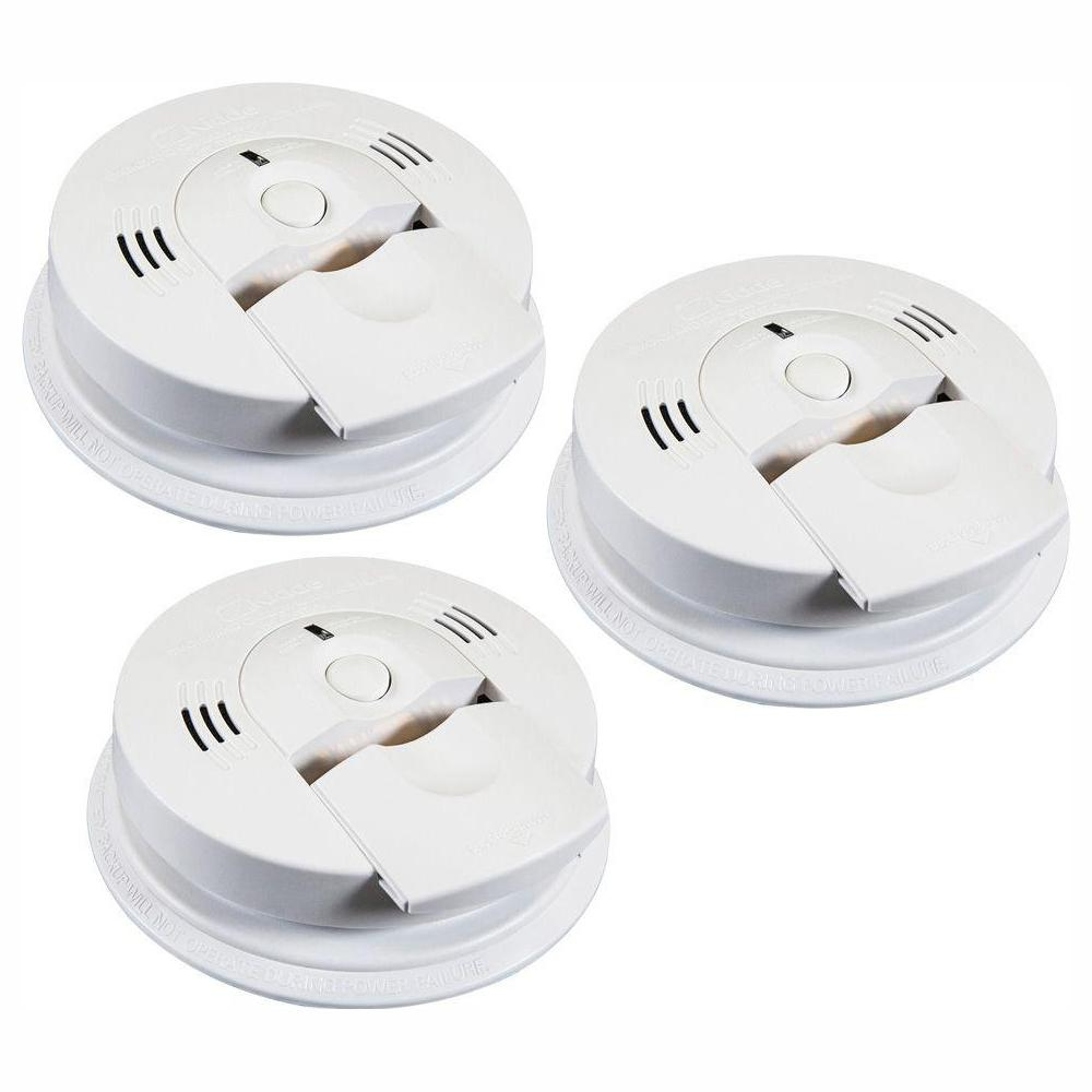 Kidde Battery Operated Smoke and Carbon Monoxide Combination Detector with Voice Alarm and Intelligent Hazard Sensing (3-pack)