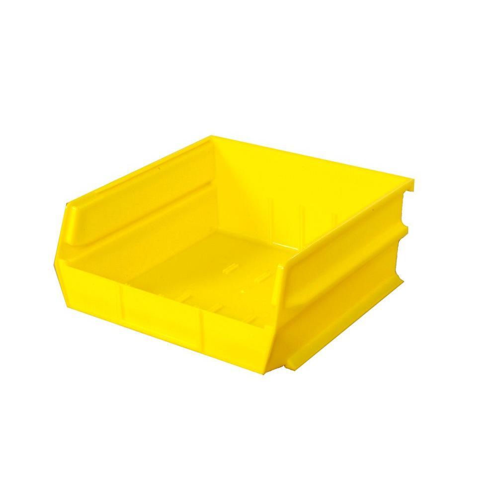 Triton Products LocBin 2.13-Gal. Stacking Hanging Interlocking Polypropylene Storage Bin in Yellow (6-Pack)