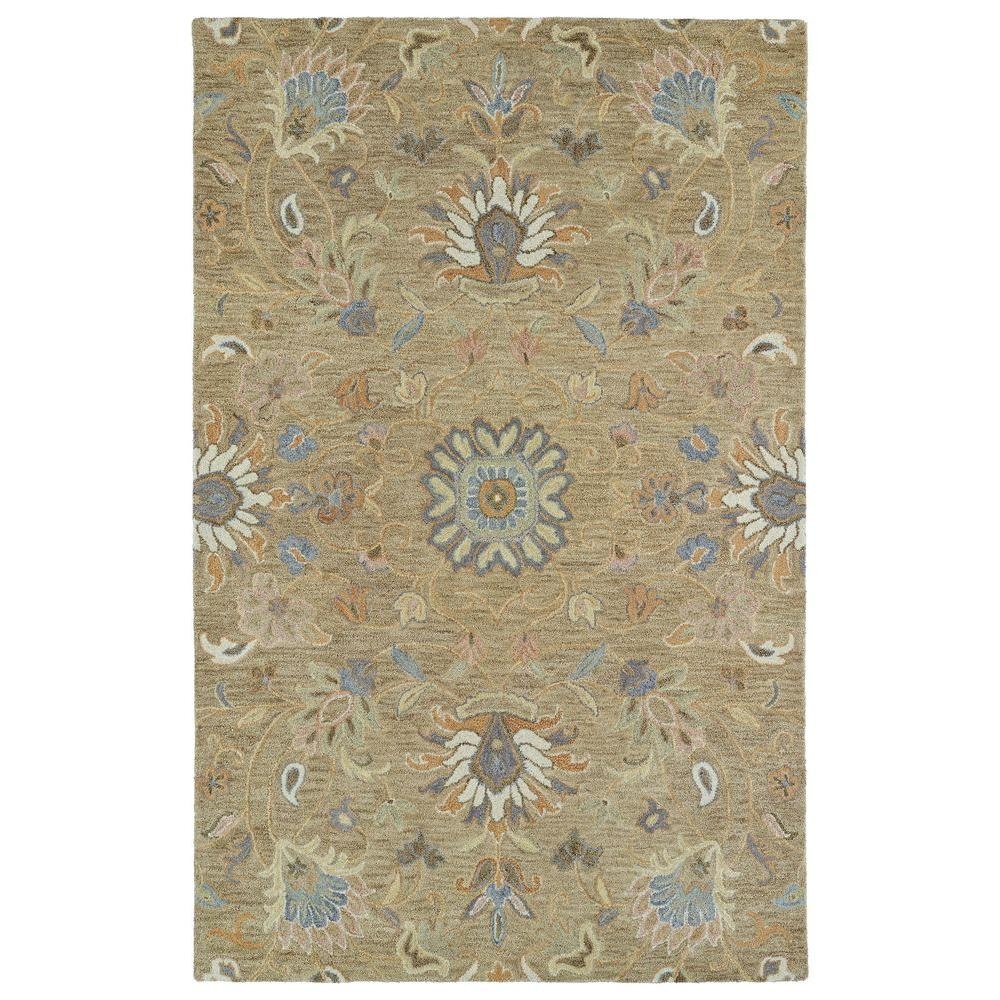 Helena Light Brown 9 ft. x 12 ft. Area Rug