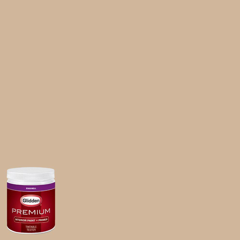 Glidden Premium 8 Oz Hdgwn19d Bonjour Beige Eggshell Interior Paint With Primer Tester