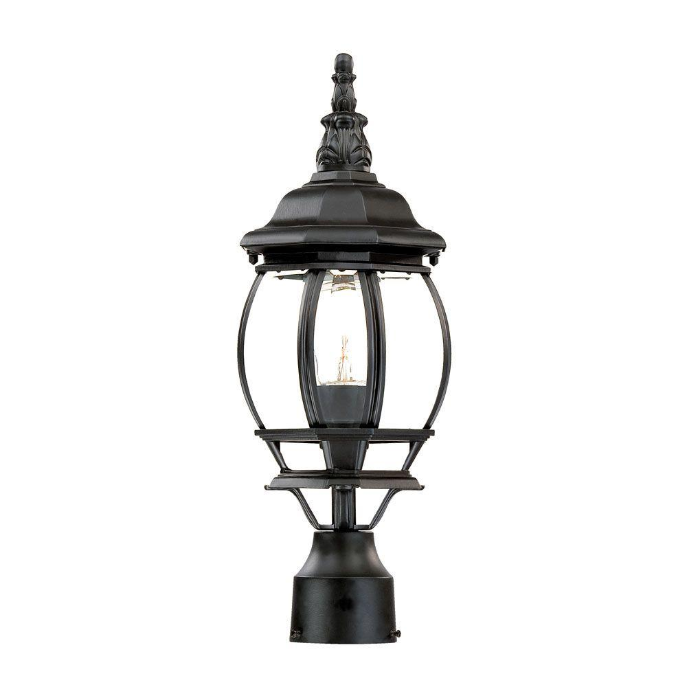 Acclaim Lighting Chateau 1-Light Matte Black Outdoor Post-Mount Light Fixture
