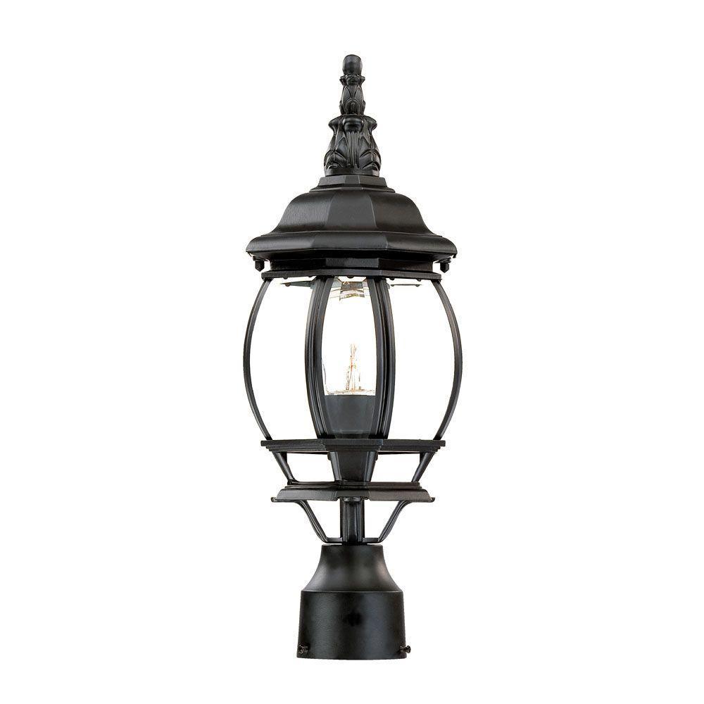 Acclaim Lighting Somerset 1 Light Matte Black Outdoor Post: Acclaim Lighting Chateau 1-Light Matte Black Outdoor Post