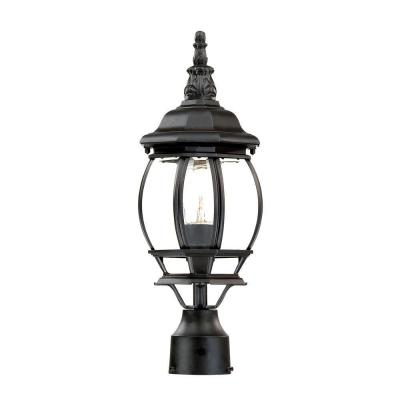 Chateau 1-Light Matte Black Outdoor Post-Mount Light Fixture