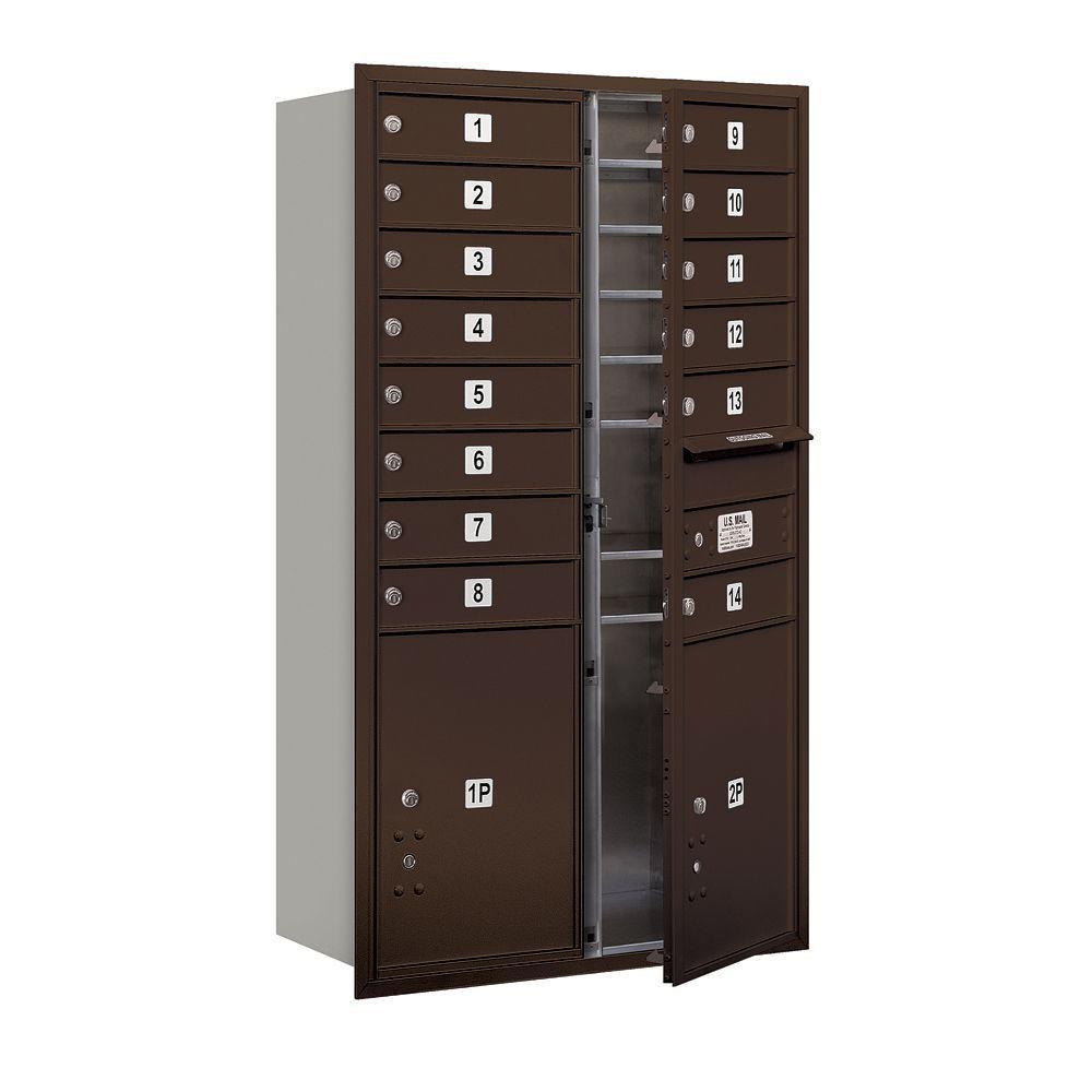 3700 Series 48 in. 13 Door High Unit Bronze Private Front
