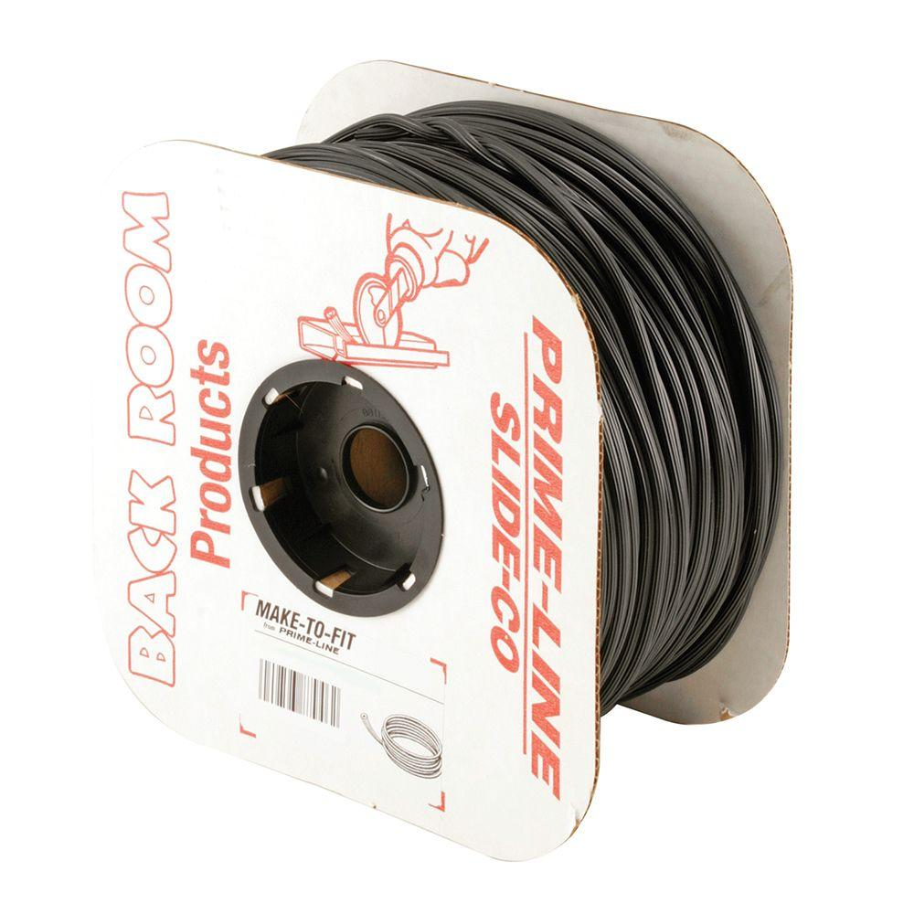 0.13 in. x 500 ft. Roll Black Spline