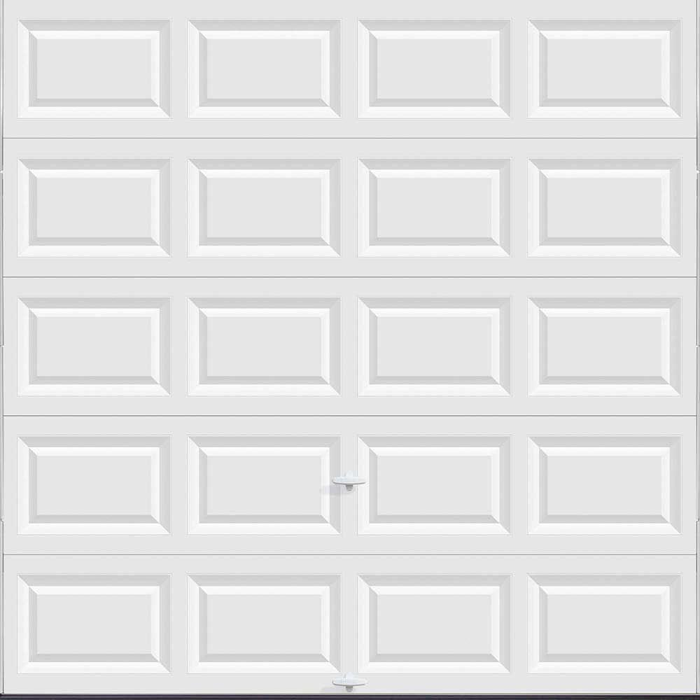 Clopay Classic Collection 8 Ft. X 8 Ft. Non Insulated Solid White Garage