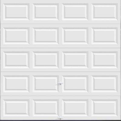 Classic Collection 8 ft. x 8 ft. Non-Insulated Solid White Garage Door