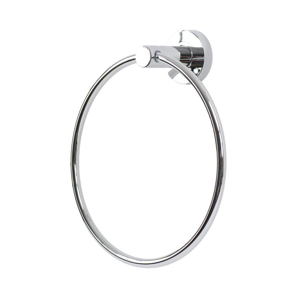 Venezia Towel Ring in Polished Chrome