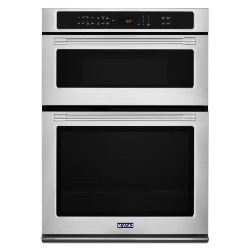 Maytag 30 In Electric Wall Oven With Built Microwave Fingerprint Resistant Stainless Steel