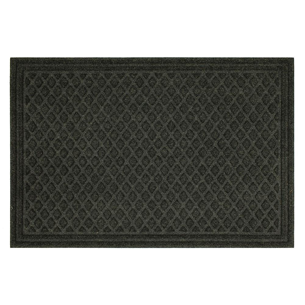 TrafficMASTER Diamond Grid Onyx Impressions 24 in. x 36 in. Door ...