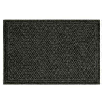 Diamond Grid Onyx Impressions 24 in. x 36 in. Door Mat