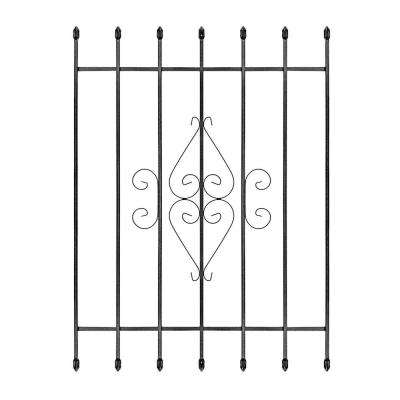 36 in. x 48 in. Su Casa Black 7-Bar Window Guard