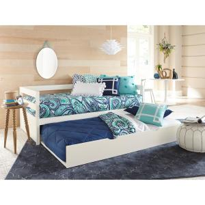 Caspian White Twin Daybed with Trundle