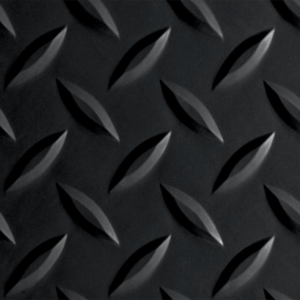 Diamond Tread 8.5 ft. x 24 ft. Midnight Black Commercial Vinyl Grade Garage Flooring Cover and Protector Roll