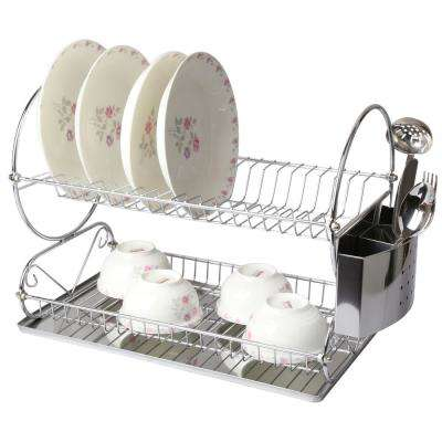 17.5 in. 2 Shelf Dish Rack