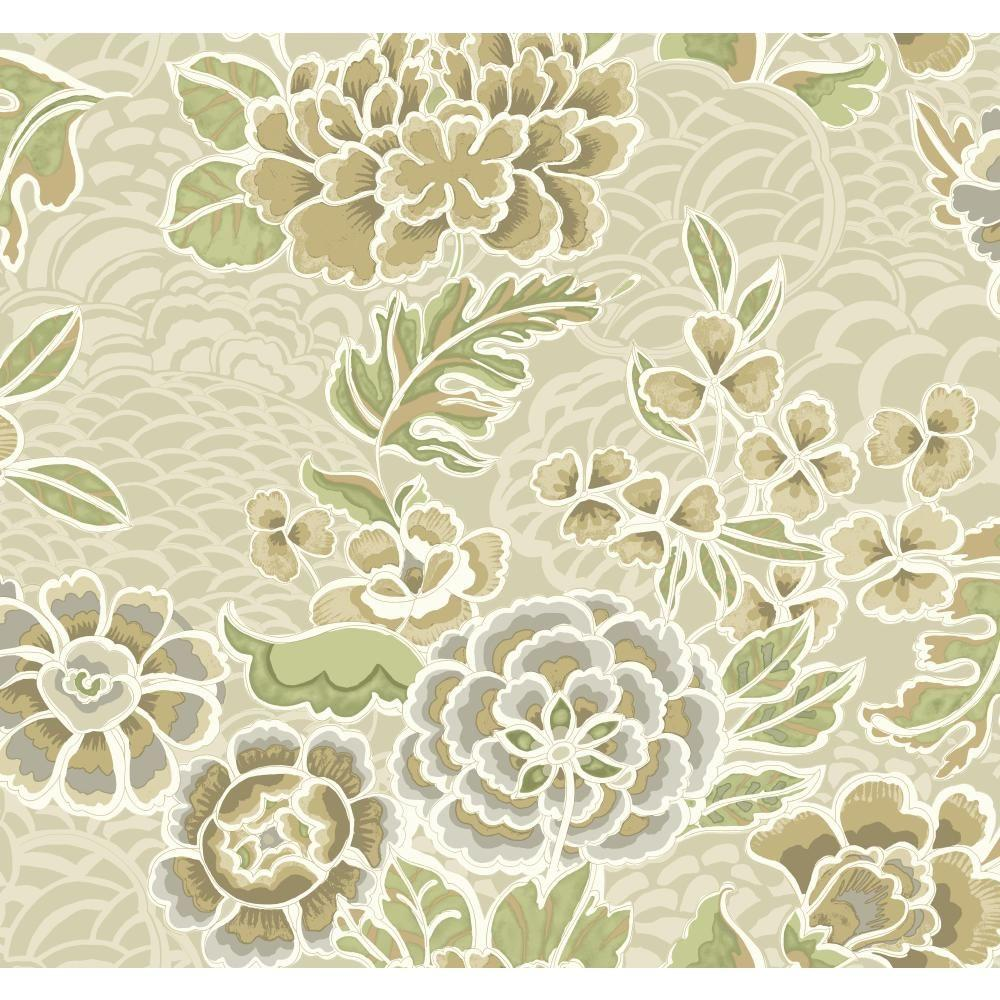 York Wallcoverings Global Chic Zen Garden Wallpaper Gc8780 The