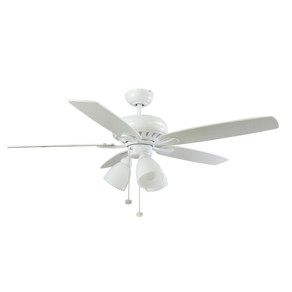 Hampton bay rockport 52 in indoor matte white ceiling fan with hampton bay rockport 52 in indoor matte white ceiling fan with light kit 51752 the home depot audiocablefo