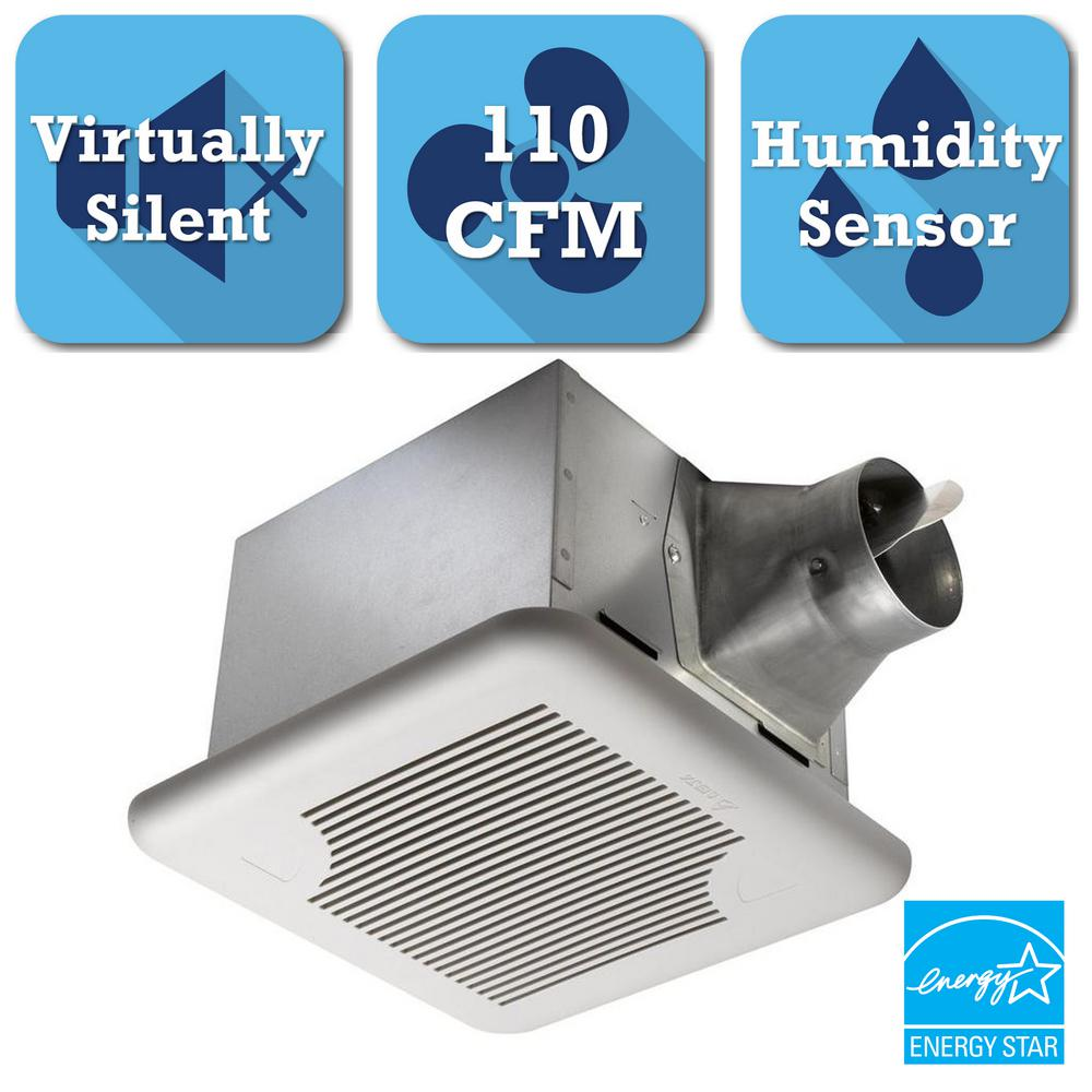 Delta Breez Signature Series 110 CFM Ceiling Bathroom Exhaust Fan With  Adjustable Humidity Sensor And Speed