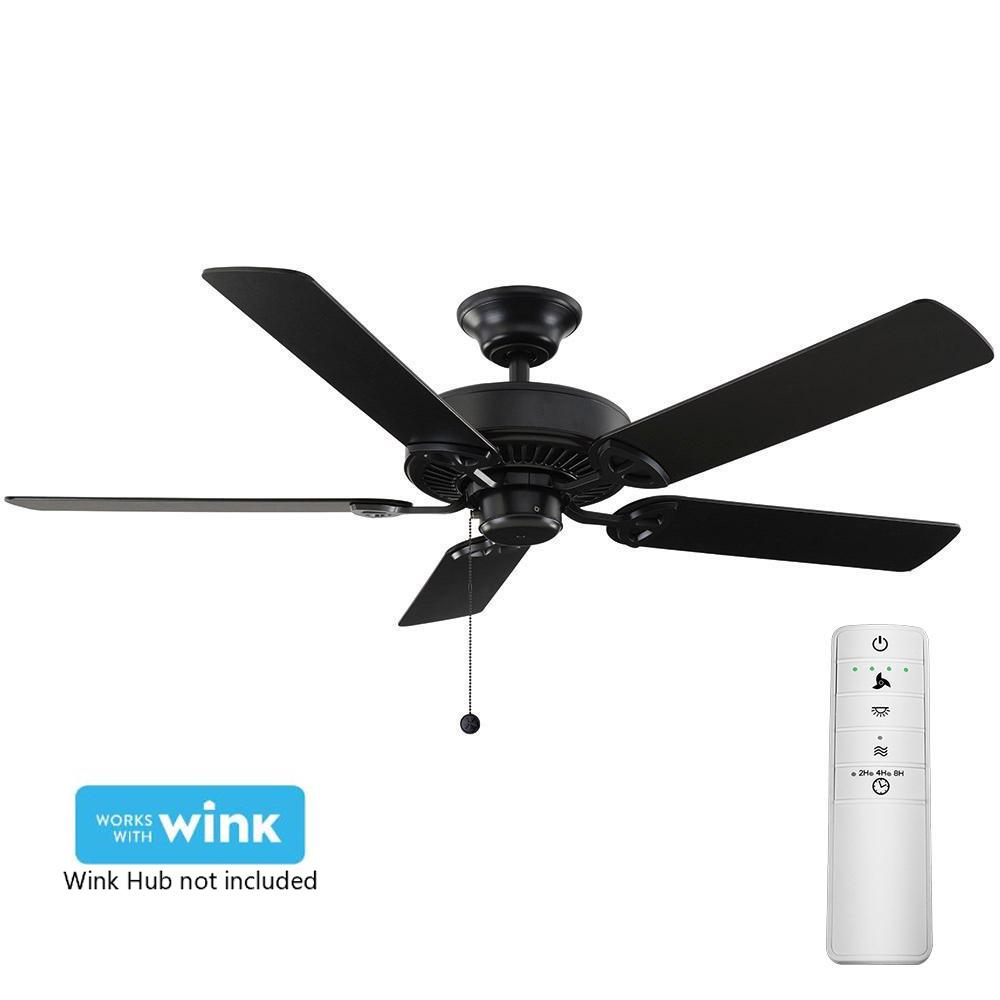 Farmington 52 In Natural Iron Smart Ceiling Fan With Wink