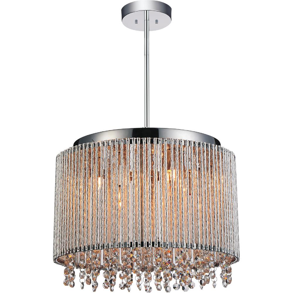 Cwi Lighting Claire 6 Light Chrome Pendant 5535p14c R