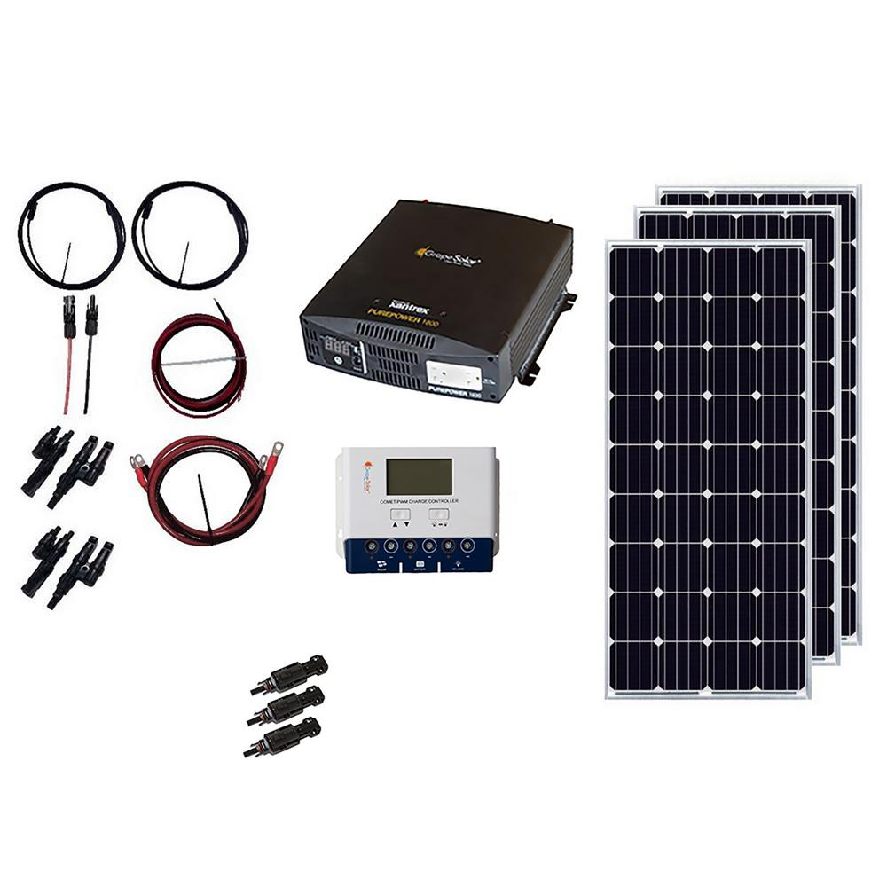 Grape Solar 540 Watt Off Grid Panel Kit Gs Bt The Cell And Motor Circuit With Electron Flow