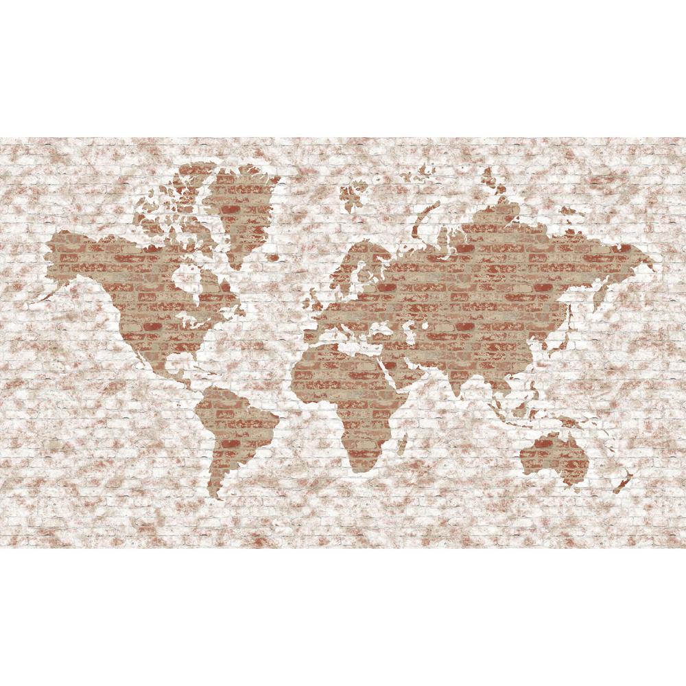 York Wallcoverings World Map Mural Wallpaper