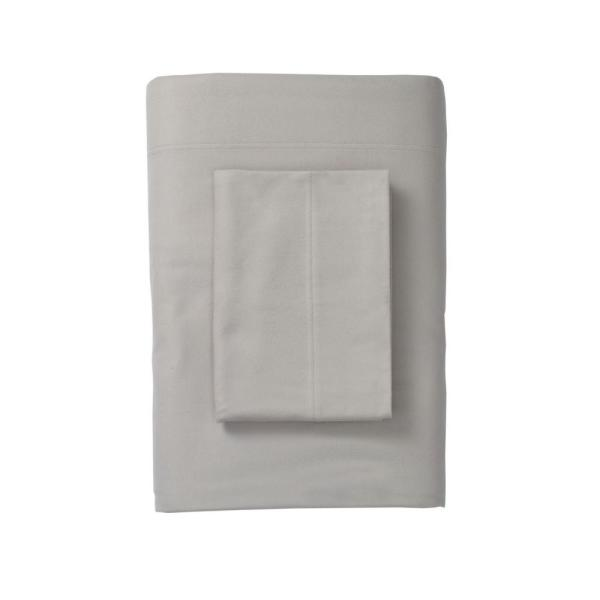 The Company Store Legacy Velvet Flannel Platinum Solid Deep Pocket California King Fitted Sheet