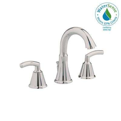 Tropic 8 in. Widespread 2-Handle Mid-Arc Bathroom Faucet in Brushed Nickel with Metal Speed Connect Pop-Up Drain