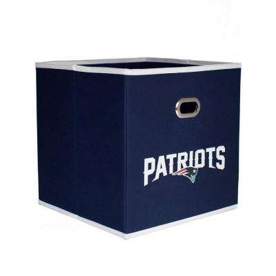 New England Patriots NFL Store-Its 10-1/2 in. W x 10-1/2 in. H x 11 in. D Navy Blue Fabric Drawer