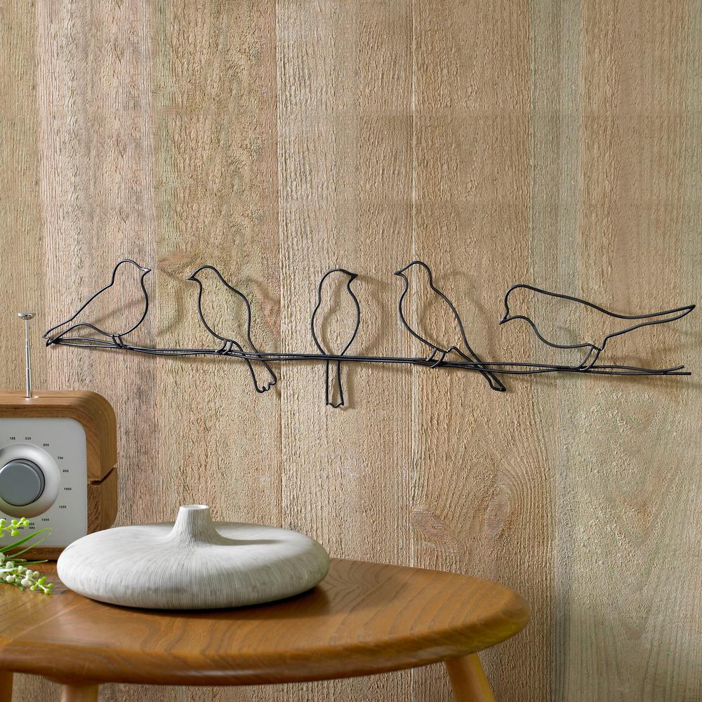 Metal Wall Art Bird Decorative Gallery Wall Hang Living