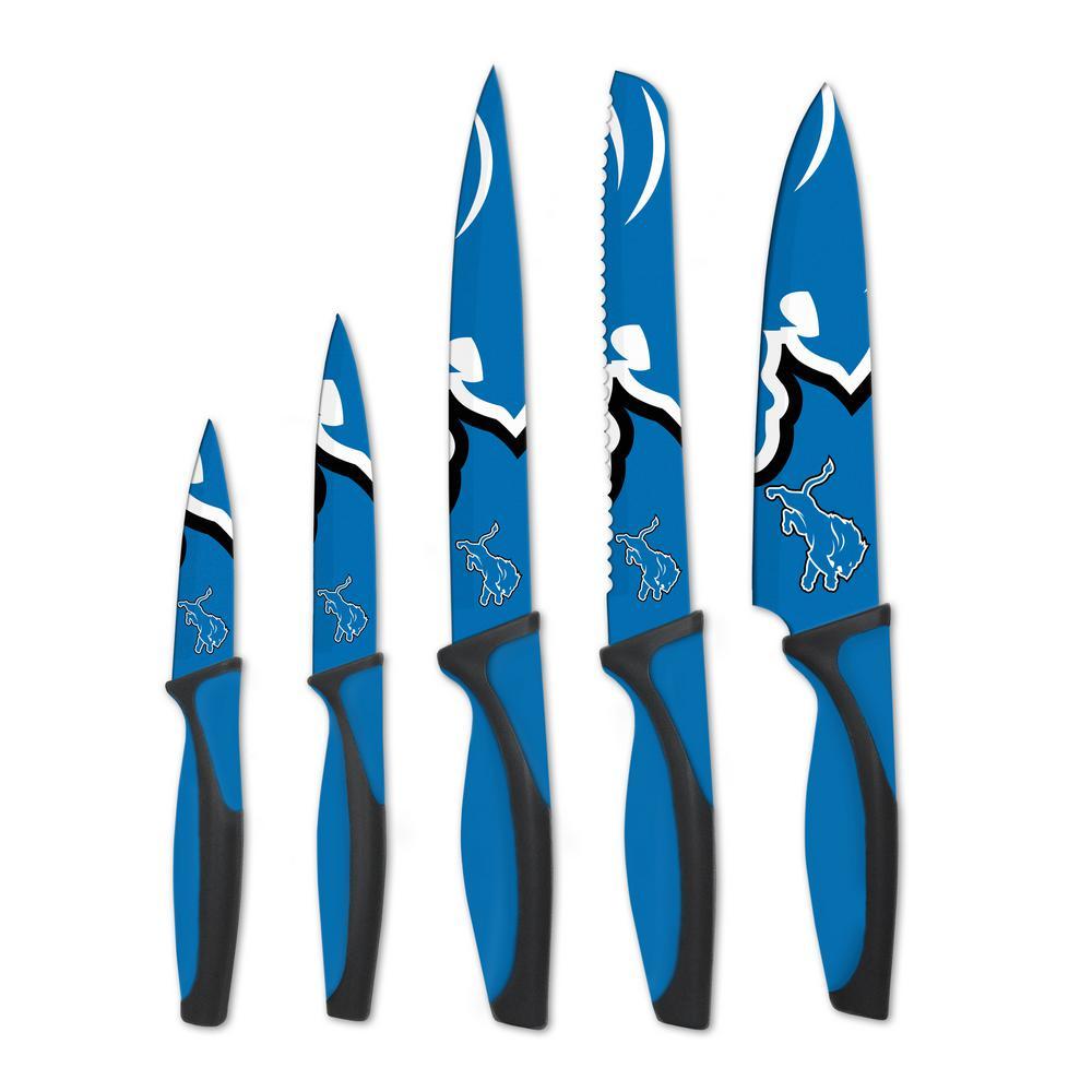 NFL Detroit Lions 5-Piece Kitchen Knives