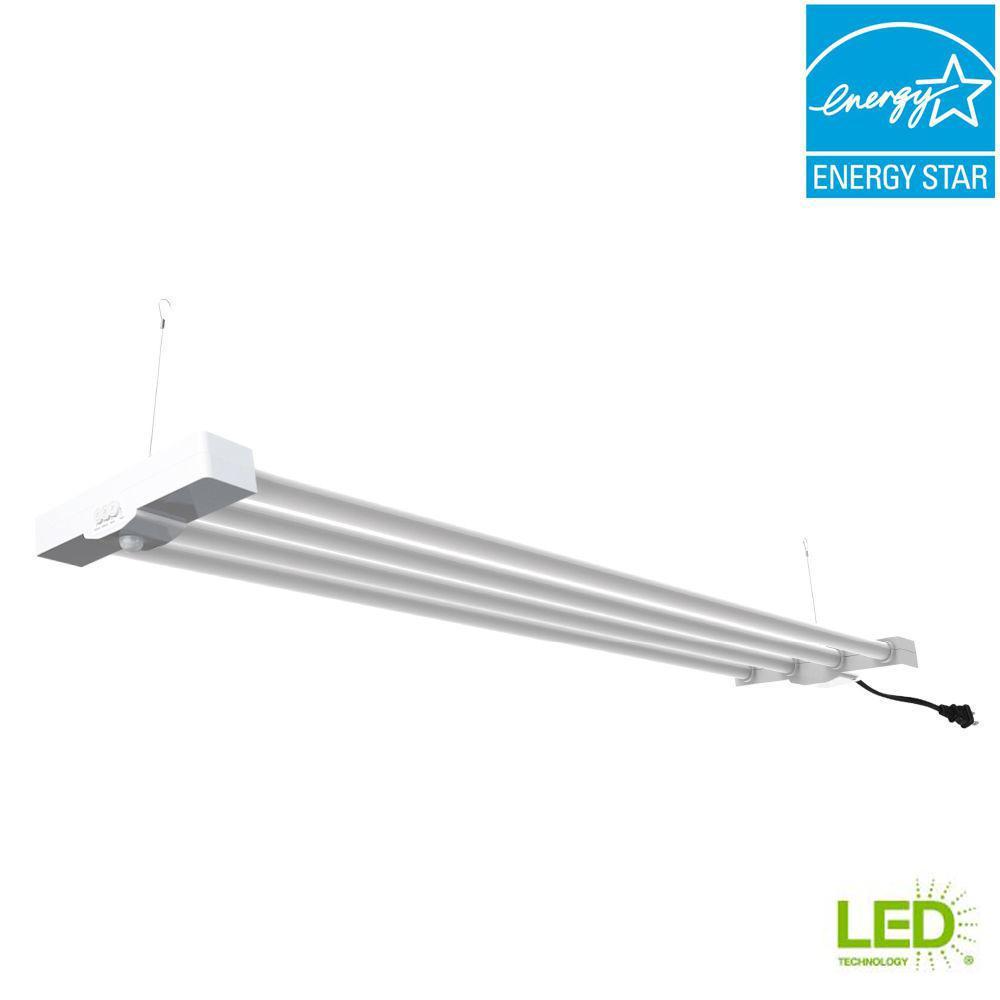 4 ft. 4-Light White LED Utility Motion Control High Bay
