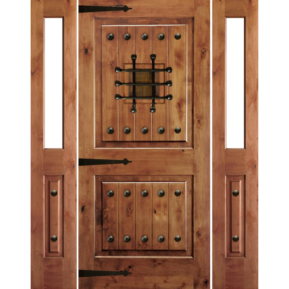 Krosswood Doors 30 In X 80 In Rustic Knotty Alder 2: Krosswood Doors 64 In. X 96 In. Mediterranean Knotty Alder