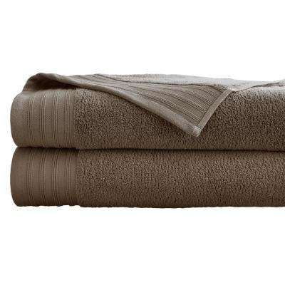 Oversized Quick Dry Bath Sheets in Mocha (2-Pack)