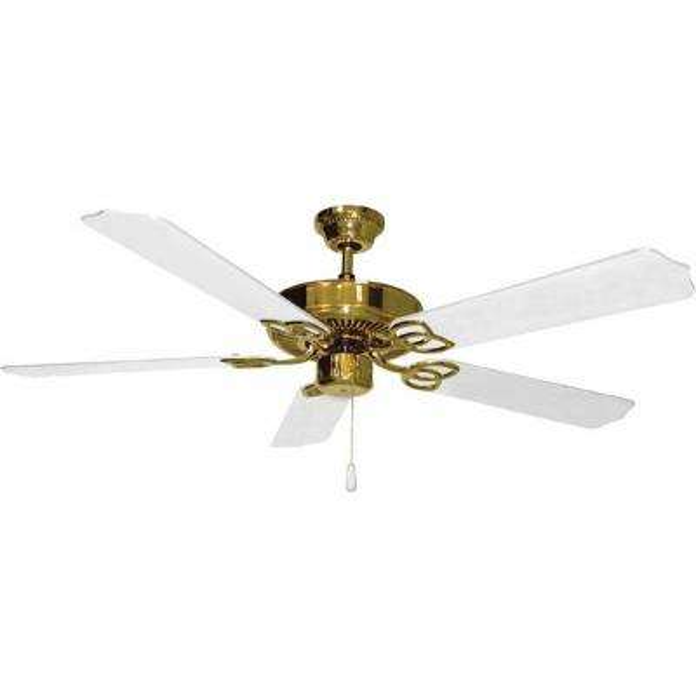Lenor 52 in. Polished Brass Indoor Ceiling Fan