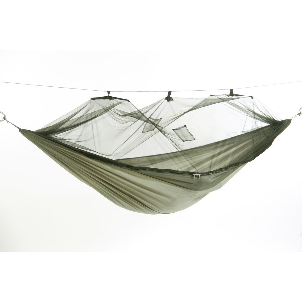 9 ft. 8 in. Parachute Nylon Hammock with Mosquito Net in