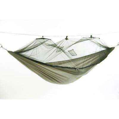 9 ft. 8 in. Parachute Nylon Hammock with Mosquito Net in Spruce Green
