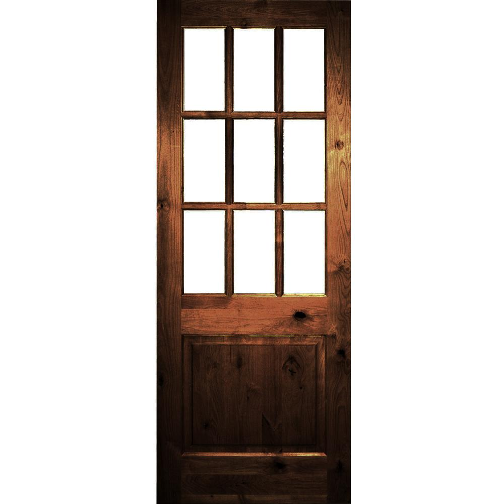 Krosswood Doors 30 In X 80 In Rustic Knotty Alder 2: Krosswood Doors 36 In. X 96 In. Rustic Knotty Alder Red