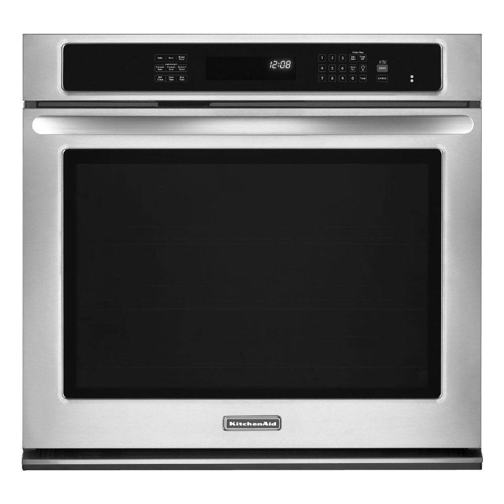 KitchenAid Architect Series II 27 in. Single Electric Wall Oven Self-Cleaning with Convection in Stainless Steel