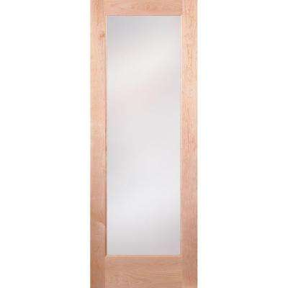 Privacy Woodgrain 1 Lite Unfinished Cherry Interior Door Slab  sc 1 st  The Home Depot & 32 x 80 - Slab Doors - Interior \u0026 Closet Doors - The Home Depot