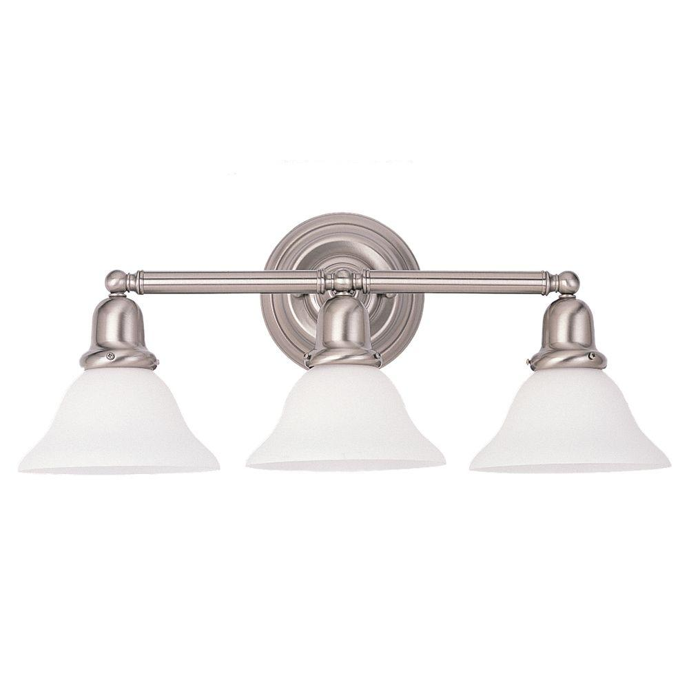 Sea Gull Lighting Sussex 3-Light Brushed Nickel Vanity Fixture
