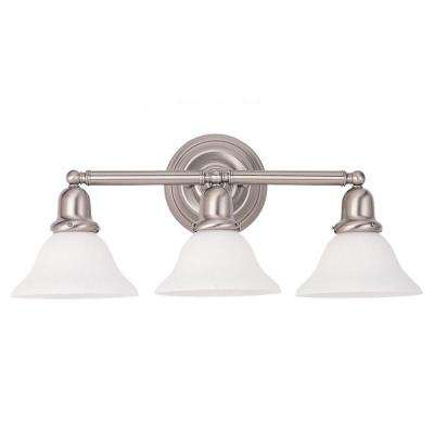 Sussex 3-Light Brushed Nickel Vanity Fixture