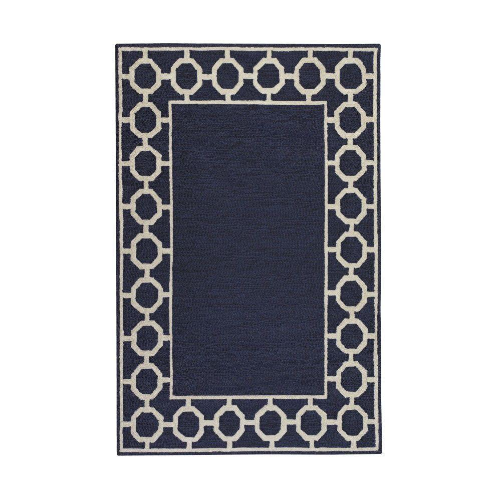 Home Decorators Collection Espana Border Denim 5 ft. x 7 ft. 6 in. Area Rug