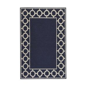 Espana Border Denim 5 ft. x 7 ft. 6 in. Area Rug