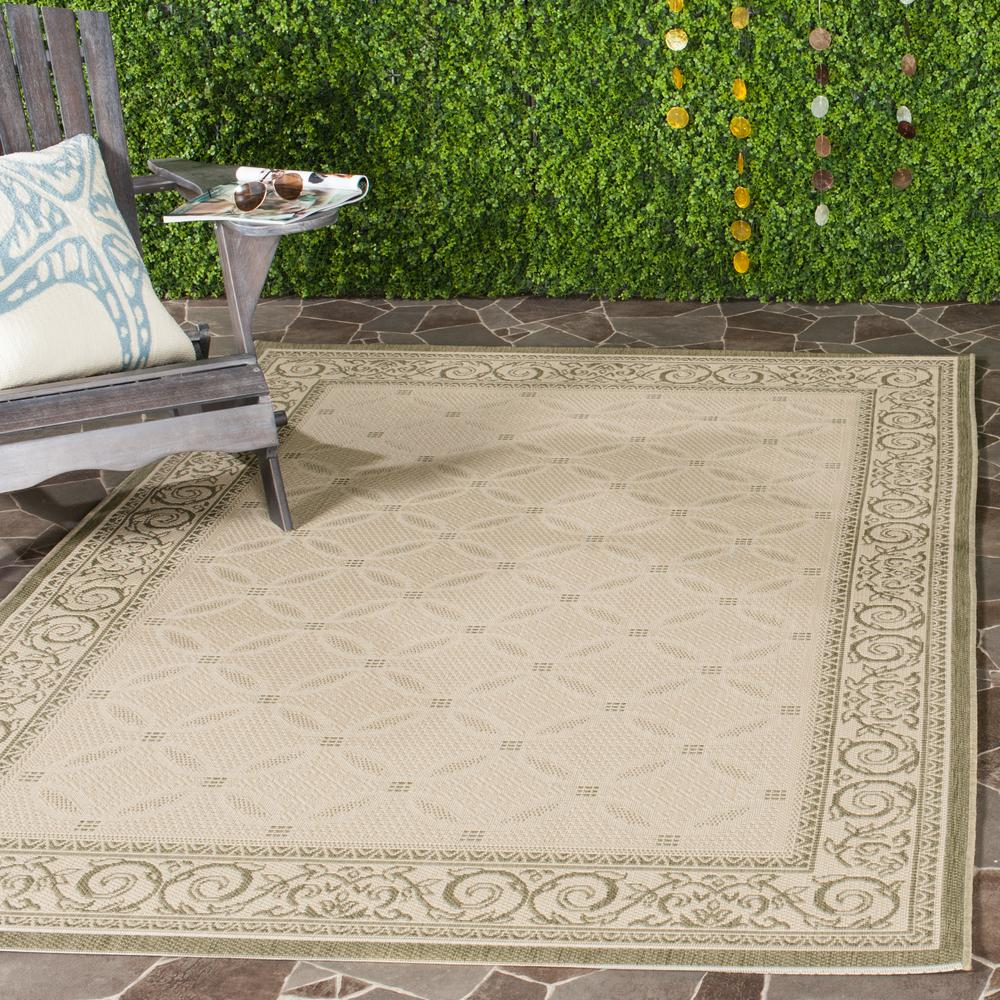 Courtyard Natural/Olive 4 ft. x 5 ft. 7 in. Indoor/Outdoor Area