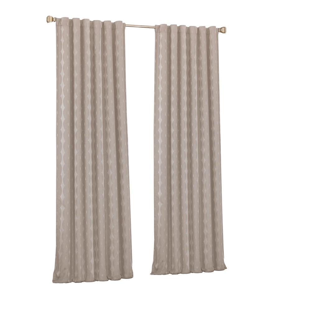 Adalyn Blackout Window Curtain Panel in String - 52 in. W x 63 in. L