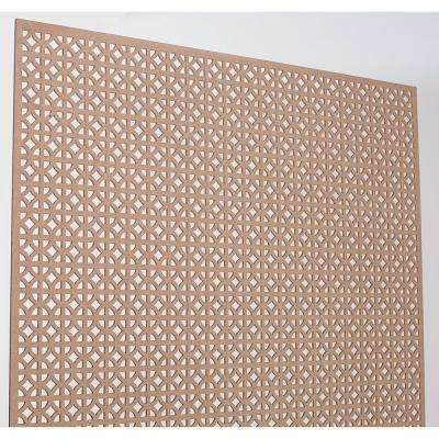 72 in. x 24 in. x 1/8 in. Unfinished Circle Decorative Perforated Paintable MDF Screening Panel Insert