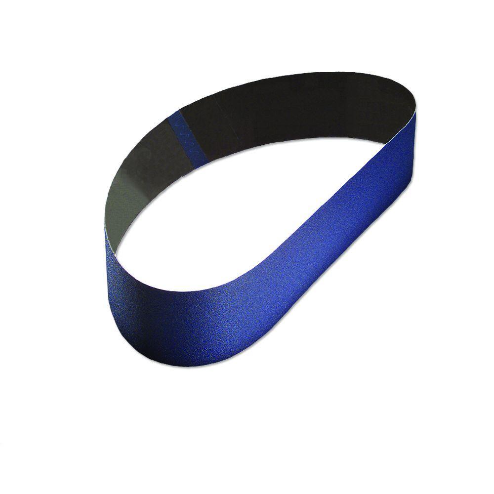 2 in. x 48 in. 60-Grit Aluminum Oxide Cloth Sanding Belt (10-Pack)