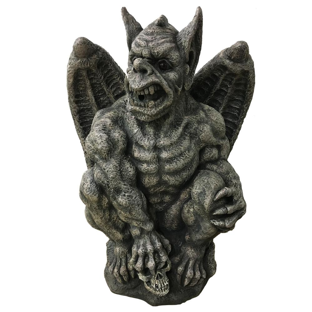 Home Accents Holiday 32 In H Halloween Gargoyle With LED Light