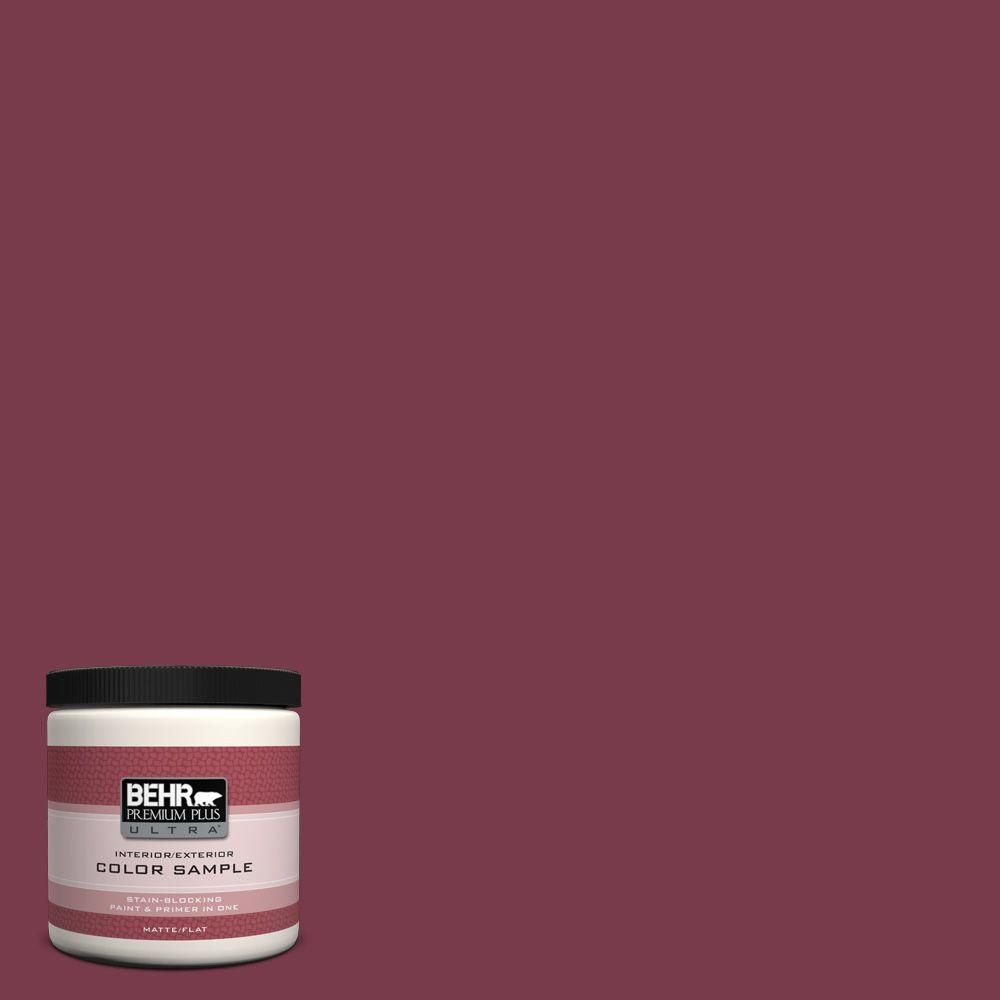 BEHR Premium Plus Ultra 8 oz. #BIC-51 July Ruby Interior/Exterior Paint Sample
